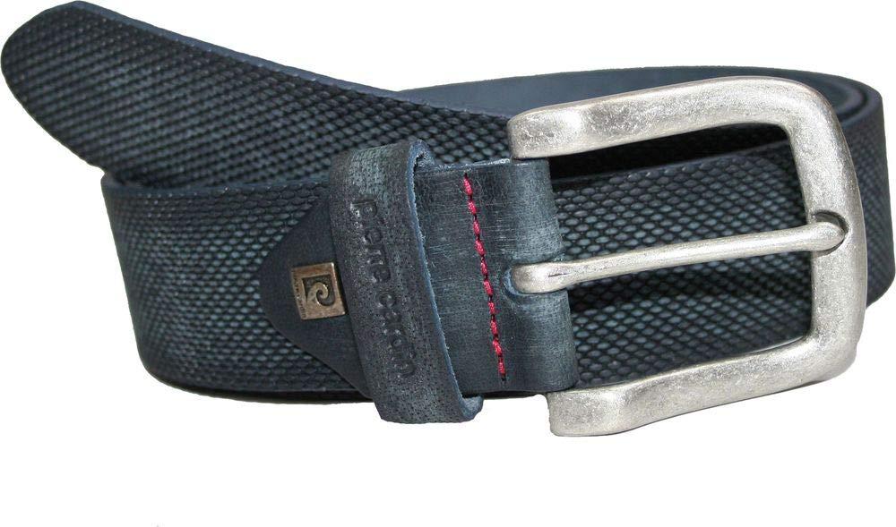 Lindenmann Accessories Ledergürtel PIERRE CARDIN, dunkelblau