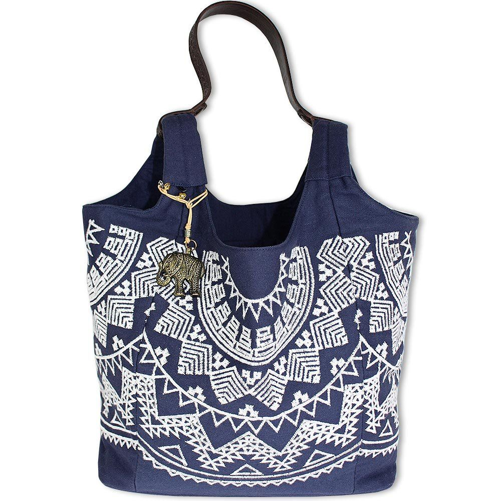 Anokhi Shopper blau