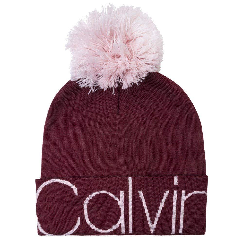 Calvin Klein CALVIN POM POM BEANIE W, RED