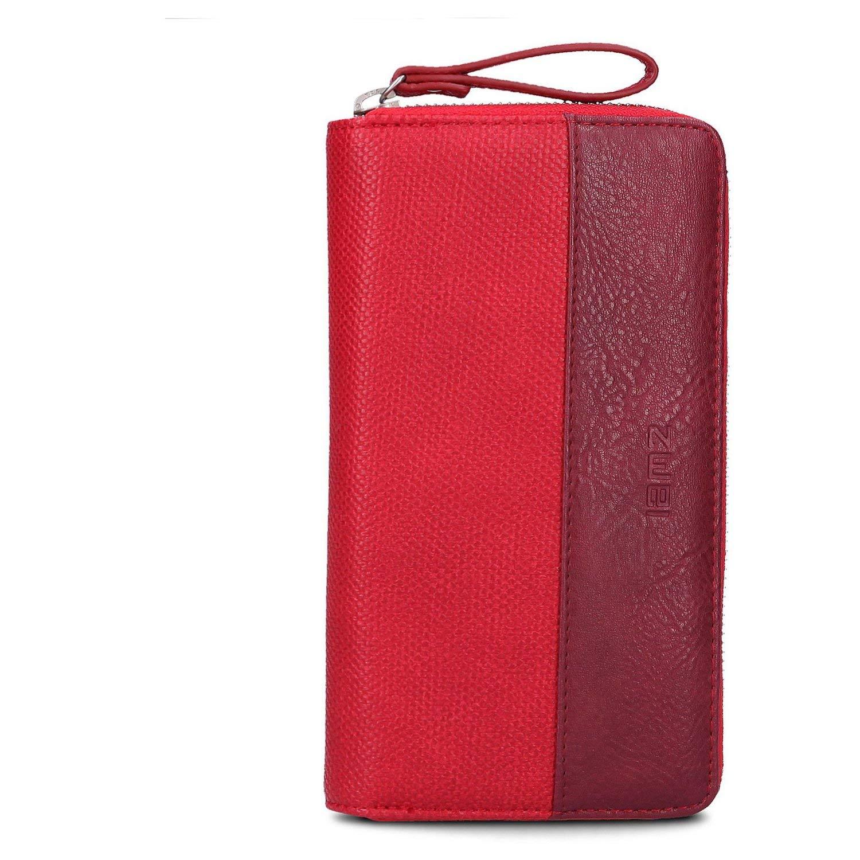 Zwei Geldbörse rot